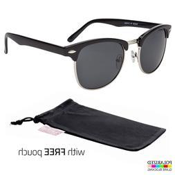 Polarized club-master Sunglasses Vintage Designer Metal Half