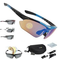 ROCKBROS Polarized Cycling Glasses Eyewear Bike Goggles Fish