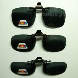 Polarized flip up clip on sunglasses 100% UV 400 protection