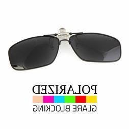 Polarized Flip Up Metal Clip On Sunglasses 100% UV 400 Prote