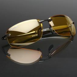 Polarized Men Sunglasses Night Vision anti glare Driving Fis