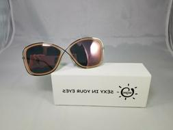 SOJOS Polarized Oversized Womens Sunglasses Metal Frame Mirr