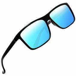 Sinuoda Polarized Rectangular Vintage Sun Glasses For Men/Wo