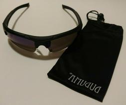 DUDUMA Polarized Sport Sunglasses Black/Blue Mirror Lightwei
