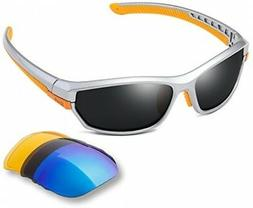 DUCO Polarized Sports Mens Sunglasses For Ski Driving Golf R