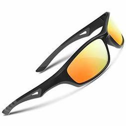RIVBOS Polarized Sports Sunglasses Driving Comfortable Sun G
