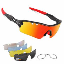 TOREGE Polarized Sports Sunglasses for Men Women for Cycling