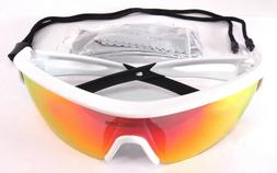 Rivbos Polarized Sports Sunglasses Glasses with 3 Interchang