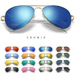 Polarized Sunglasses Aviator Men Women Vintage color Mirrore
