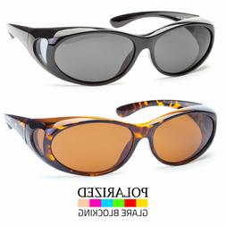 Polarized Sunglasses Cover Put Wear Over Prescription Glasse