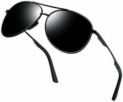 Joopin Men Women Military Sunglasses, Polarized Mirrored Met
