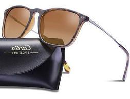 Carfia Polarized Sunglasses for Women Men Vintage Style 100%