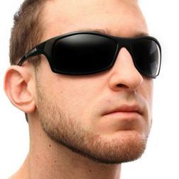 Nitrogen POLARIZED Sunglasses Mens Sports Wrap Fishing Golfi