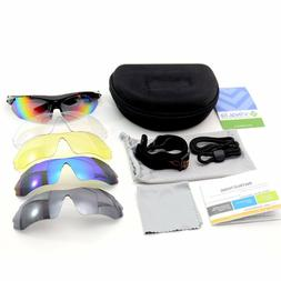 VINQLIQ Polarized Unisex Sports Cycling Sunglasses with 5 In