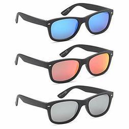 Gamma Ray Polarized UV400 Classic Style Sunglasses with Mirr