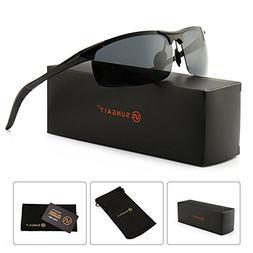 Men's Polarized UV400 Sunglasses Driving Fishing Golf Black