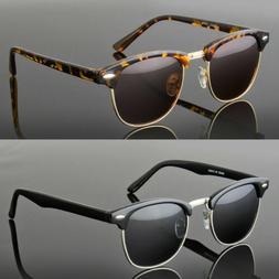 Polarized Women Men Vintage Designer Clubmaster Sunglasses M