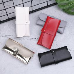Portable Soft Leather Eyeglass Storage Case Box Protector Fo
