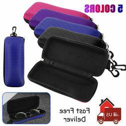Portable Zipper Glass Case Hard Eyewear Box For Sunglasses E