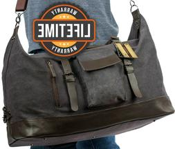 Potenza Duffle bag Canvas Leather Travel bags  for men women