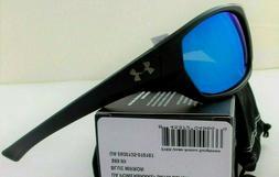 Under Armour Powerbrake Sunglasses Satin Black Blue Mirror M