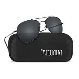 Duduma Premium Classic Aviator Sunglasses with Metal Frame U