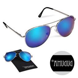 Duduma Premium Full Mirrored Aviator Sunglasses w/ Flash Mir
