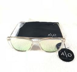 Quay Australia French Kiss Womens Sunglasses Clear Gold Fram