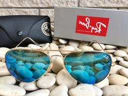 Ray Ban Aviator Pilot Sunglasses Blue Flash RB3025 112/17 58