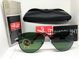 Ray Ban AVIATOR RB3025 L2823 58mm Black Frame/ Green G-15 Le