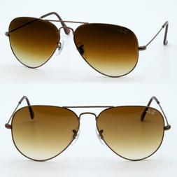 62mm Ray ban aviator new sunglasses for men women brown larg