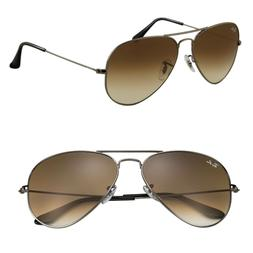 Ray Ban Aviator Sunglasses for Women Brown Gradient Middle l