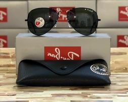 Ray-Ban Aviator Sunglasses Polarized RB3025 002/58 58mm Blac
