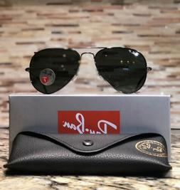 Ray-Ban Aviator Sunglasses Polarized RB3025 004/58 58mm Gunm