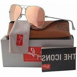 Ray-Ban Aviator Sunglasses RB3025 019/Z2 Matte Silver Frame/
