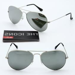 58mm Ray-Ban aviator new sunglasses for women men silver mir