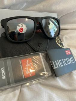 Ray Ban Black Justin Sunglasses with Grey Gradient POLARIZED