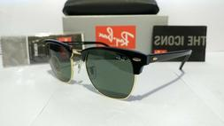 Ray-Ban Clubmaster 3016 W0365 Sunglasses Black/Gold Large Fr
