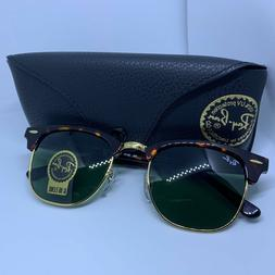 Ray Ban ClubMaster RB3016 W0366 Tortoise Frame Green G15 Len