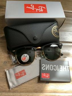 Ray-Ban Clubmaster Sunglasses Polarized RB3016 901/58 51mm B