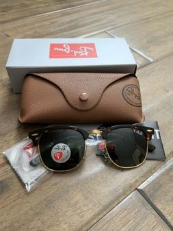 Ray-Ban Clubmaster Sunglasses Polarized RB3016 990/58 51mm T