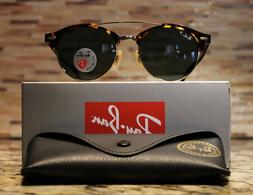 Ray-Ban Clubround Double Bridge Polarized Sunglasses RB4346