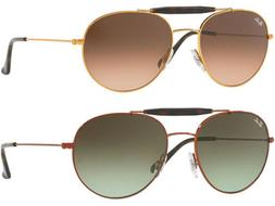 Ray-Ban Double Bridge Men's Aviator Sunglasses w/ Gradient L