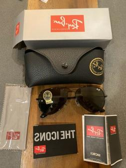 RAY-BAN G-15 AVIATOR RB3025 BLACK FRAME GREEN CLASSIC DELIVE