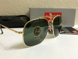 f5b7d988790 Editorial Pick RAY-BAN General Square SUNGLASSES Gold Frame/Green Classic L