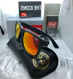 Ray-Ban Justin Polarized RB4165 622/T3 54mm Matte Black **FR