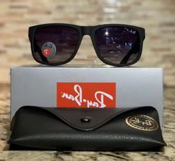 Ray-Ban Justin Polarized Sunglasses RB4165 622/T3 54mm Black