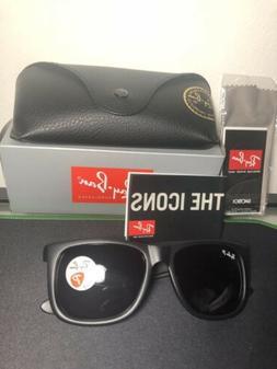 Ray-Ban Justin Sunglasses RB4165 601/8G 54mm Matte Black/Gre