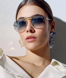 RAY BAN MARSHAL RB3648 001-3F HEXAGONAL Sunglasses Light Blu