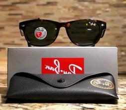 Ray-Ban New Wayfarer Sunglasses Polarized RB2132 902/58 Tort
